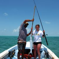 caye caulker - fishing for barracuda and snapper with eloy